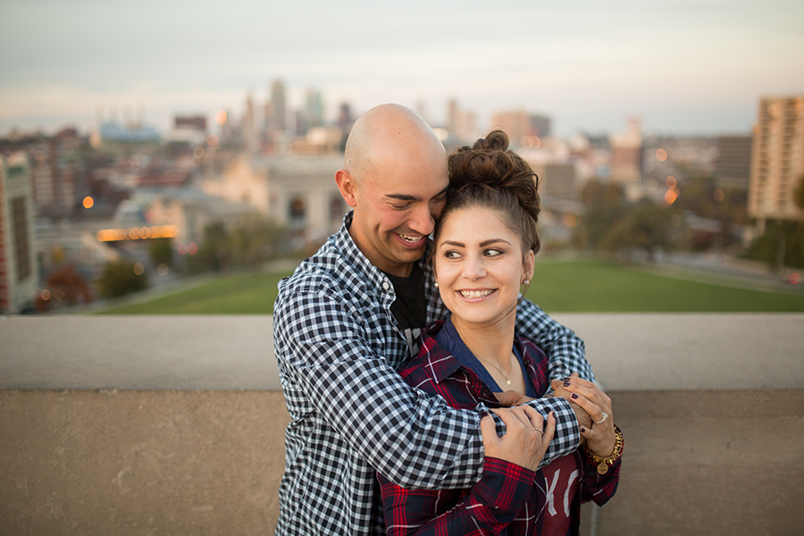 Kansas City Skyline Engagement Session