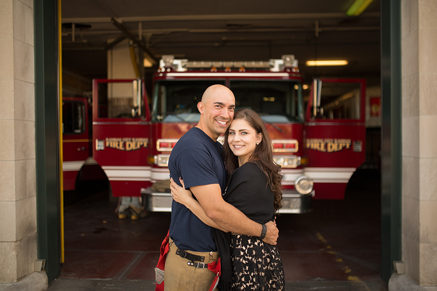 Fire Station Engagement Session Kansas City Missour