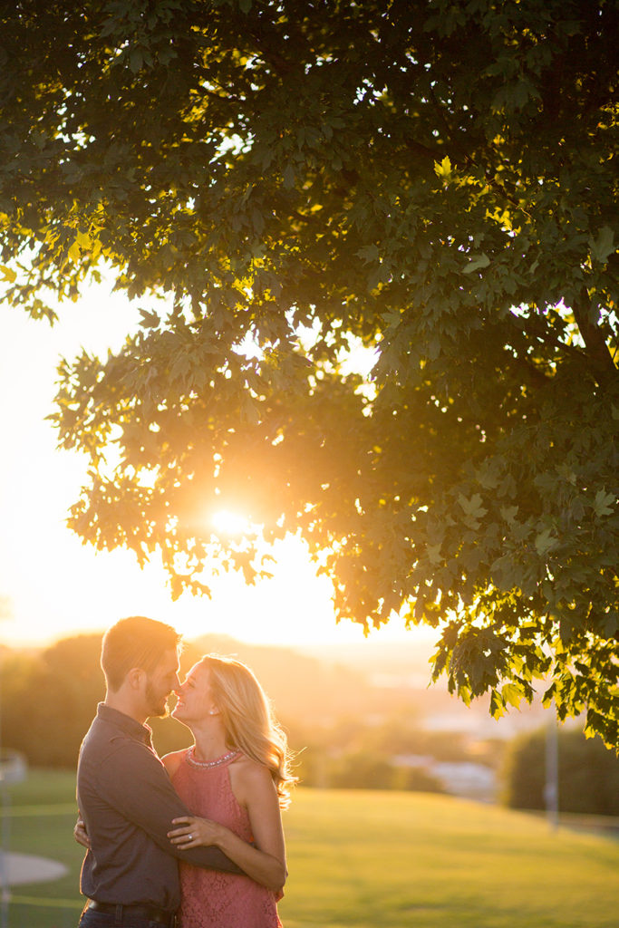 Sunset Engagement Session Kansas City