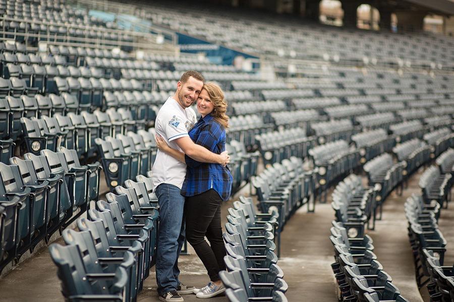 Kauffman Baseball Stadium Engagement session
