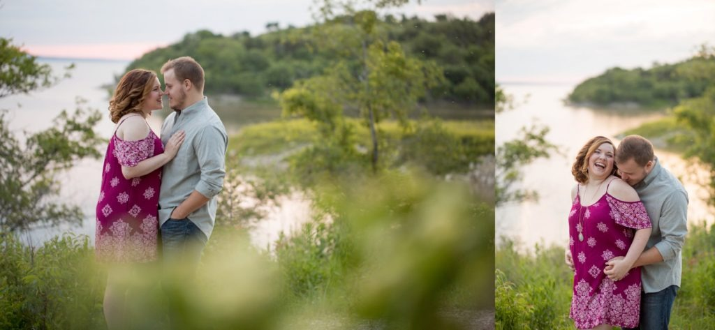 tuttle creek lake engagement session