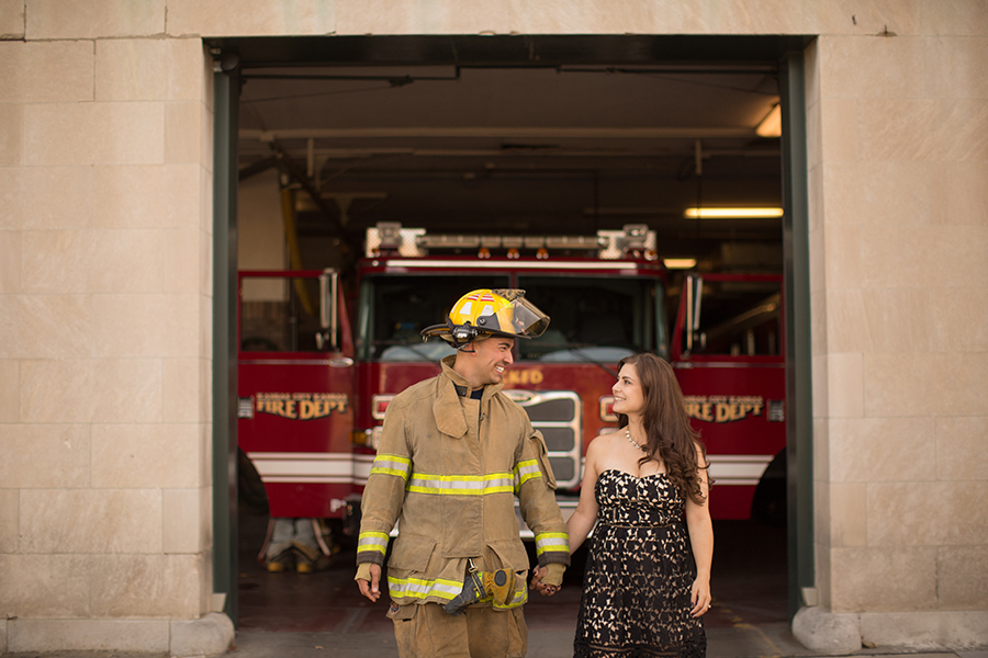 Fire Station Engagement Session KCMO