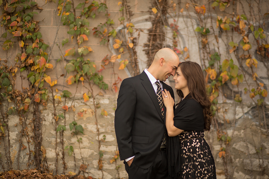 West Bottoms Engagement Session Brick Wall