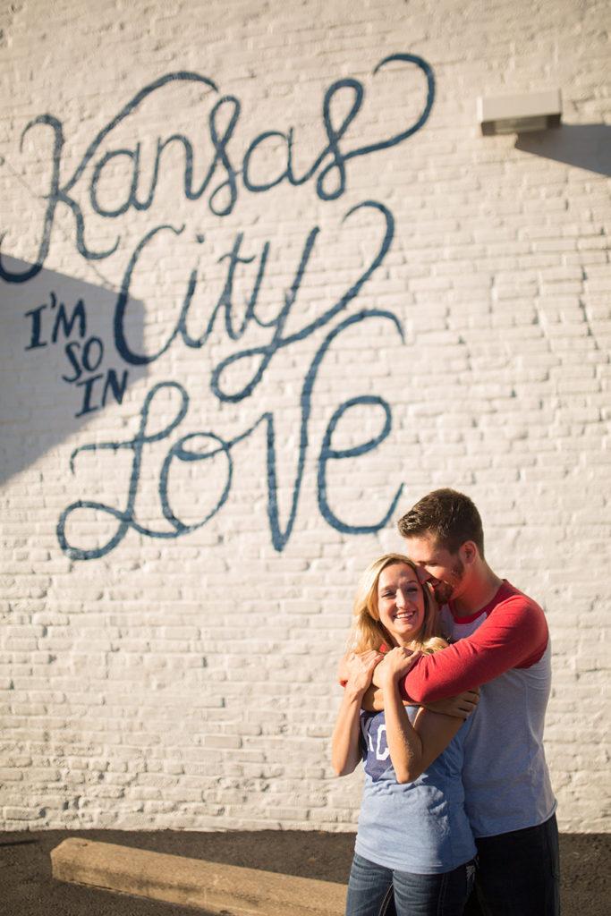 Kansas City I'm so in Love Sign Engagement Session