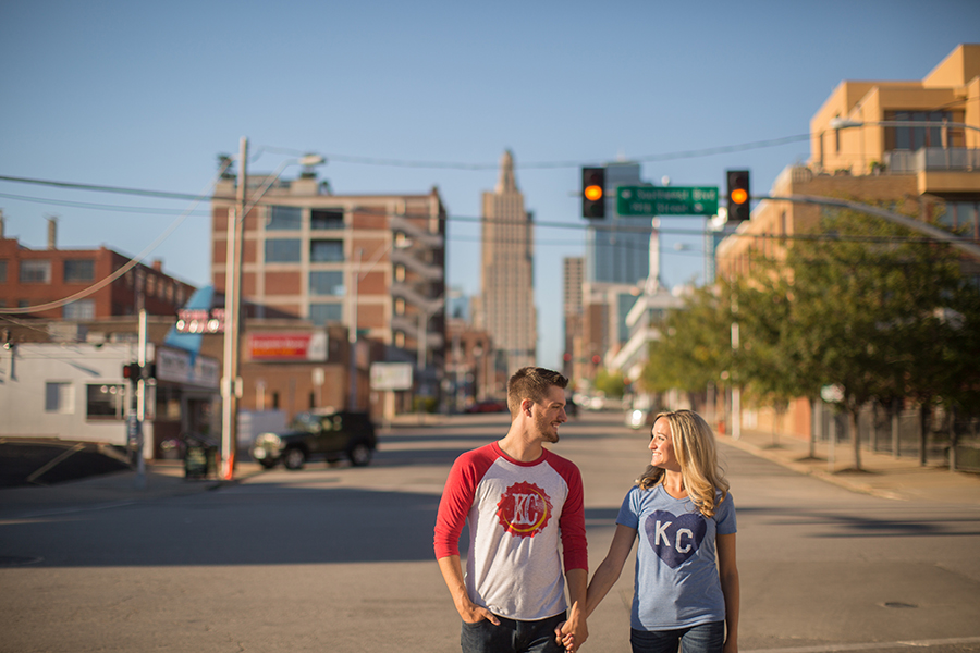 Downtown Kansas City Engagement Session