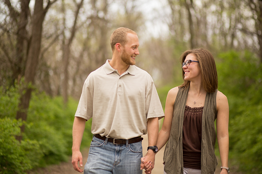 Walking Engagement Session Manhattan Kansas