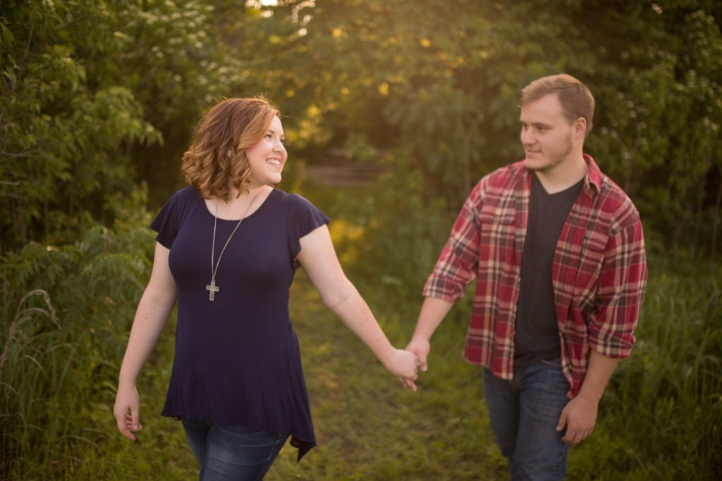 outdoor engagement session manhattan kansas